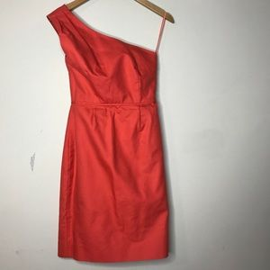 J. Crew Sz 2 Red Off Shoulder Dress